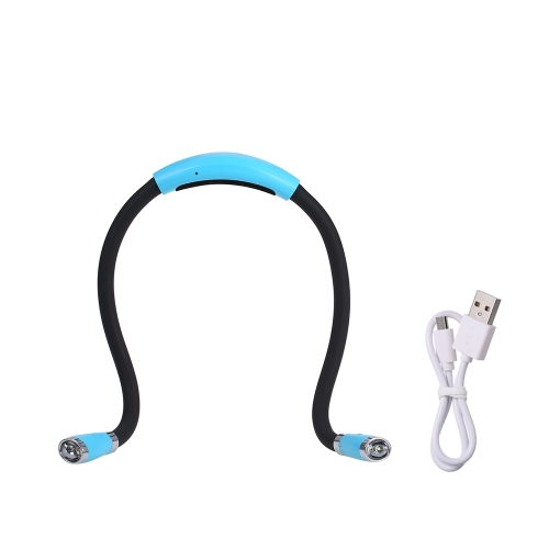 Hands Free SMD5050 4LEDs USB Book Light Neck Hug Lamp