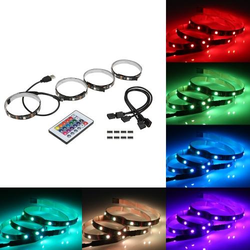 Zestaw podświetlanych taśm LED Podświetlenie telewizora z portem USB do zdalnego sterowania