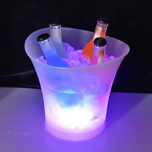 5L 7 Farben LED Licht Eiskübel Champagner Wein Getränke Bier Eiskühler Bar Party