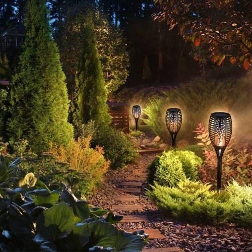 Solar Power Torch Flame Light Outdoor Landscape Lamp