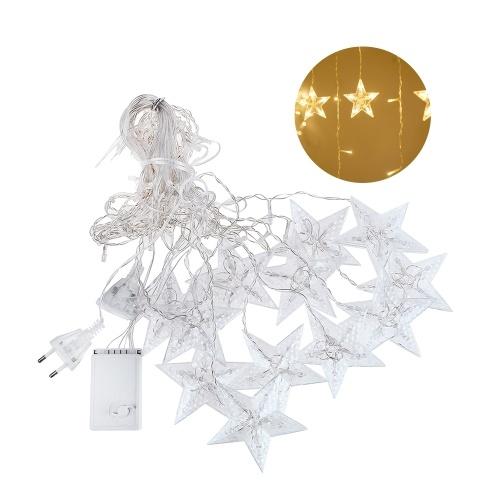 3-M 138 L-EDs Star String Light Home Cortina Decoração Christmas Holiday Party Flashing Light