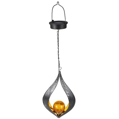 Solar Iron Flame Hanging Lamp IP44 Patio Corridor Pathway Decoration Light