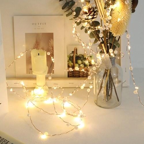 5M 50 luci perla stringa filo di rame chiaro bianco caldo costante decorazione della stanza luminosa