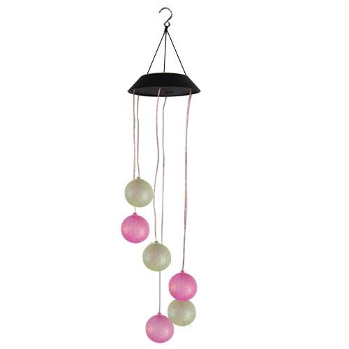 Solar Wind Glockenspiel Ball Lampe Luminous Wind Glockenspiel Park Light Black Cover