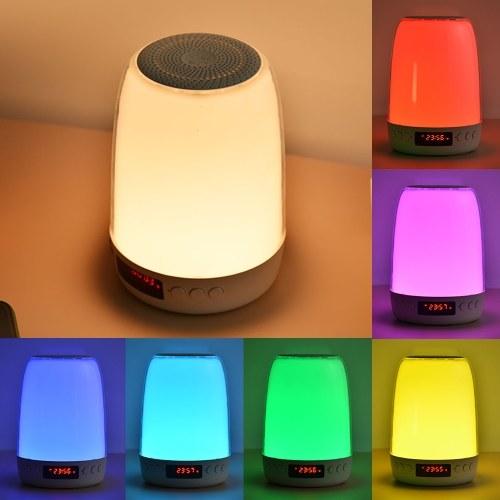 Сенсорное управление Прикроватный светильник с регулируемой яркостью и будильником Подключение к Bluetooth Музыкальный плеер Перезаряжаемый светодиоды с изменением цвета Лампа