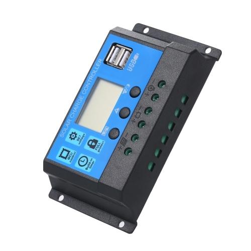 50W DC 5V/18V Dual Output Solar Panel with 2 USB Ports & Car Charge IP65 Water Resistance 12V/24V Solar Charge Controller PWM Intelligent Regulator