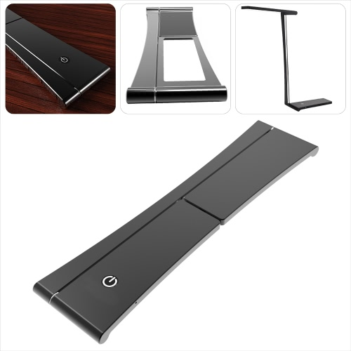 LED Rechargeable Folding Table Light Ultrathin 5W 420LM AC85-265V Dimmable Touch Control Adjustable Lighting Angle Desk Reading Lamp Lighting Fixture Indoor Use Red