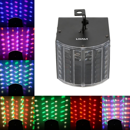 Lixada 30W RGBWY LED DMX512 Sound Activated Auto Running 6 Channels Mini Stage Light Effect Lamp for Disco KTV Club Party Wedding