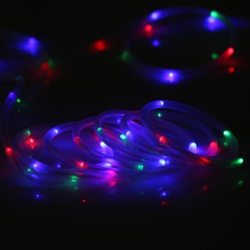 Weihnachtsbeleuchtung Lichterketten Led.Tomshine Led Solarlichterkette Solarlampe Solarleuchten 5m 50leds Wasserdicht Ip65 Tragbar Außenlichterkette Led Lichterketten Für Hochzeit