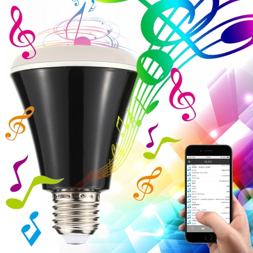 4W E27 BT Smart Speaker LED RGBW Color Changing Music Light Bulb