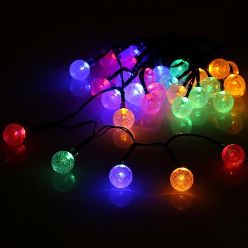 TomshineLEDs RGBY Mehrfarben-Solarschnur-Kristallkugel-Licht-Kugel-Schnur-Lampe