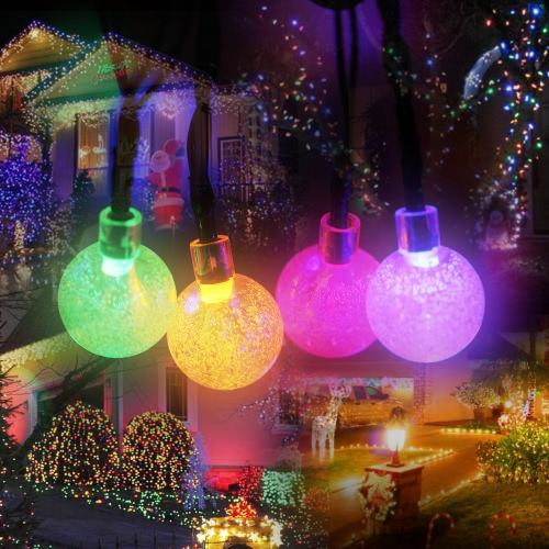 Tomshine 5.6M / 18.3ft 30 LEDs RGBY Wielokolorowe lampy Crystal Ball String Lights
