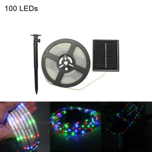 100LEDs Flexible Cuttable Rechargeable Solar Strip Light