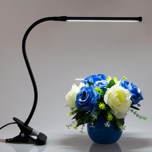 8W LED Protección para los ojos Abrazadera clip Lámpara de mesa portátil Bendable Lámpara de escritorio