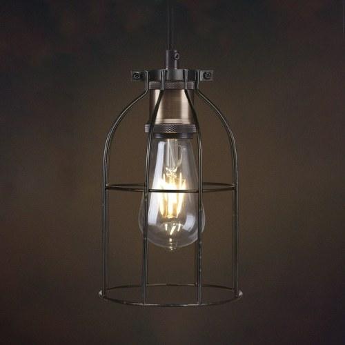 Retro Vintage Bird Cage Design Lamp Shade Iron for Pendant Light