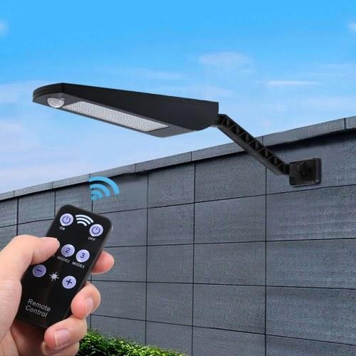 3.2V 7W 66LEDs solarbetriebene Wandleuchte Bewegungssensorlicht mit Fernbedienung