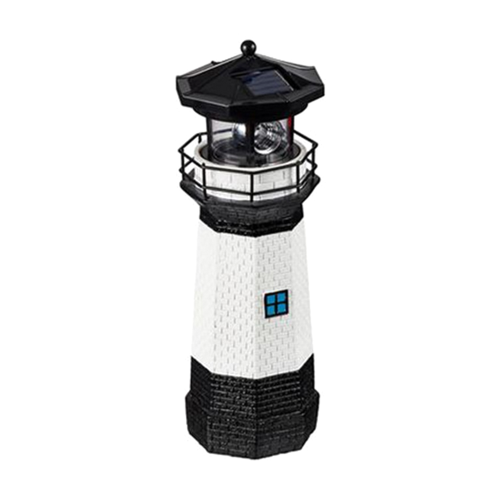 Solar Lamp Outdoor Lighthouse with Rotating Light