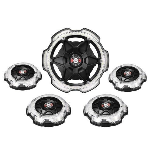 AC85-265V 120W LED Luz de garaje Luz de techo redonda de 5 cabezas