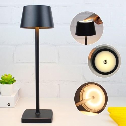 Lámpara de escritorio LED recargable por USB, lámpara de mesa regulable con control táctil, luz de estudio de lectura portátil para la cabecera de los niños