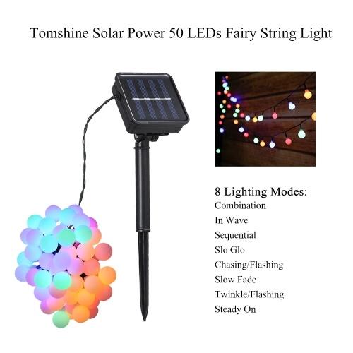Luz solar para luces de 50 LEDs de Tomshine