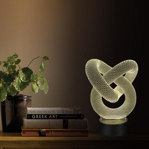 3D Optische Täuschung Ringform LED Tisch Nachtlicht Fernbedienung