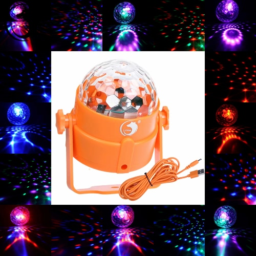 8W Mini LED RGBP Многоцветный USB Powered Magic Ball Light