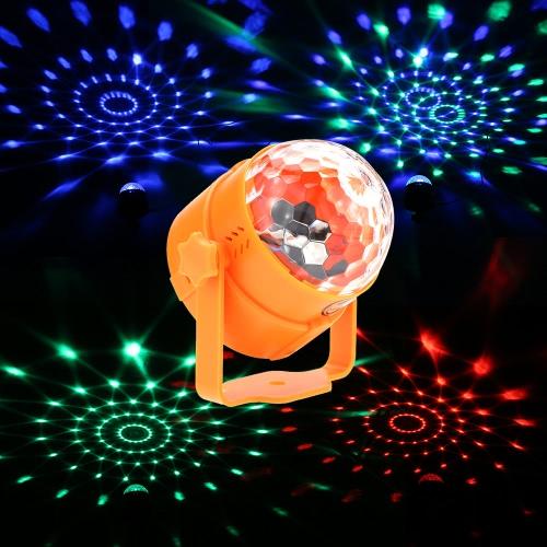 6W Mini LED RGB Разноцветный Magic Ball Light Маленький Подвижные Звук активированного портативный USB Powered лампы диско сцены эффекты для КТВ Club Bar партии