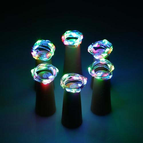 6PCS 72CM 15 LEDs hohe helle sternenklare feenhafte helle kreative kupferne Draht-Schnur-Flaschen-Stopper DIY Dekoration-Atmosphäre-Lampe für Hauptstab-Partei-Hochzeits-Weihnachtsweihnachtsgeschenk