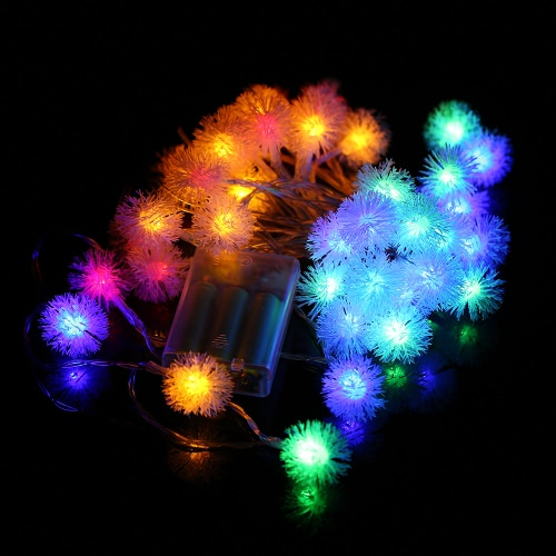 40LEDs Battery-operated Snowball Fairy cadena de luz