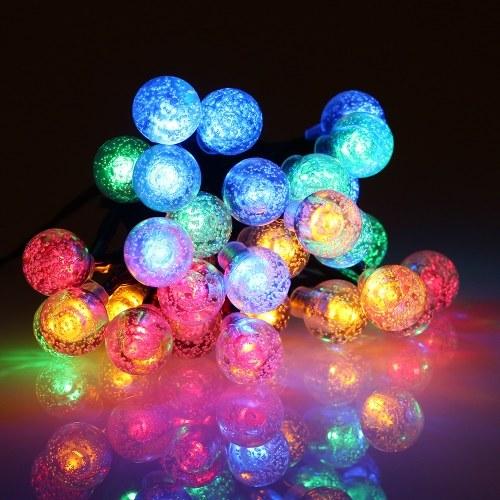 Солнечная энергия Энергия Кристалл Ball Строка Открытый Красочный 8 Режимы освещения Свет