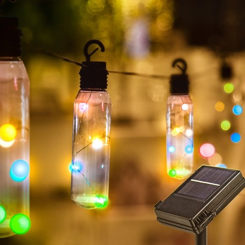 DC4.5V 2.5W 24.6ft 7.5m 96 LED Luces de cadena alimentadas con energía solar (energía solar y funcionamiento con pilas)