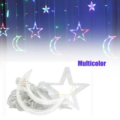 Cortina Lámpara Navidad Luna Estrella Cortina Luces Luces decorativas 220V Decoración ligera