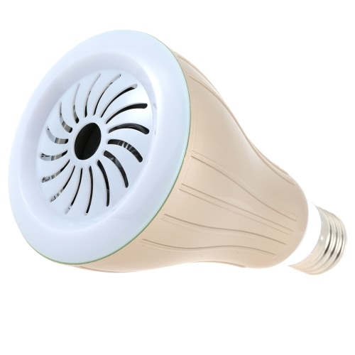 10W E26/E27 смарт BT RGBW LED лампа свет BT спикер затемняемый цвет меняется музыки лампа яркость/объем регулируемые для iPhone использовать Samsung галактики смартфон приложение управления разноцветные Иллюминационные Крытый 6s/плюс желтый оболочки