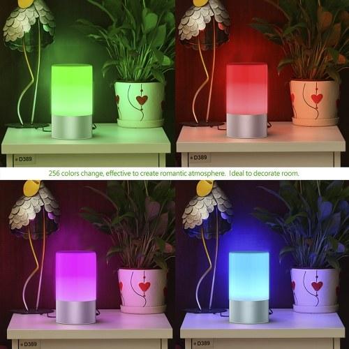 Lixada 256 colores de la lámpara de la noche 360 grados de control táctil de la luz LED