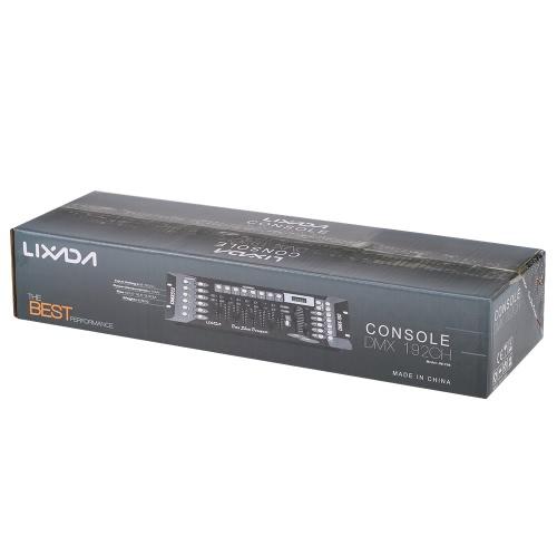Lixada 192 Channels Konsola kontrolera DMX512