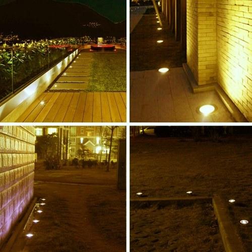 10PCS 32 мм светодиодные маленькие утопленные подземные фонари на палубе