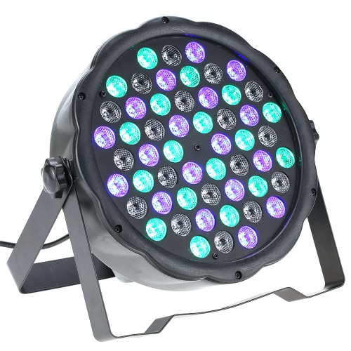 70W 54LED 7Channel RGBW Flat Wash PAR Light Stage Effect Lamp Support DMX-512 Sound Activated Strobe Dimmable for Xmas Party Disco DJ Bar Show
