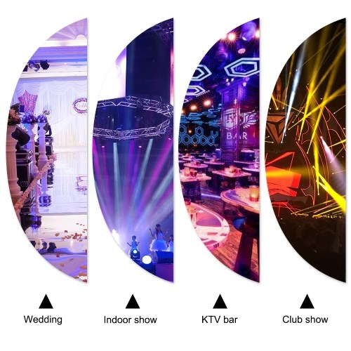 Tomshine 15W 12 LEDs UV Stage Par Light AC110V-220V Support Auto Sound DMX512 Master-slave 8 Channels for Indoor KTV Pub Bar Wedding School Show Xmas Club