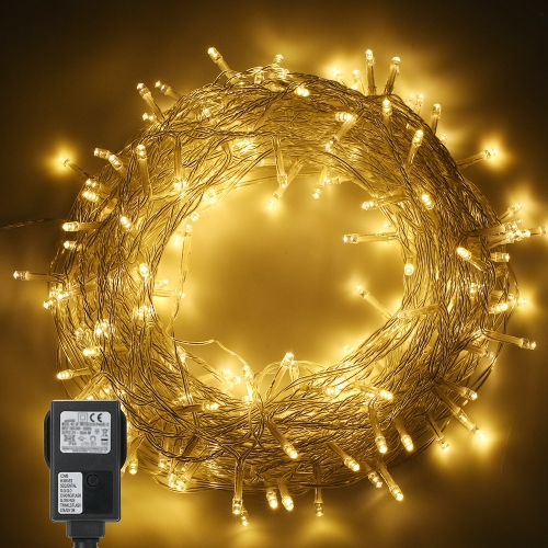 Tomshine 200LEDs String Light 6w 25 meters/82 ft  IP44 Water Resistance Eight Lighting Effects for Party Living Room Bedroom Patio Garden