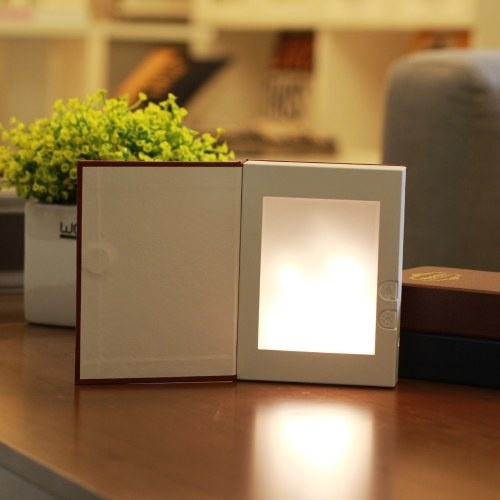 Flame Effect Night Light USB аккумуляторная книжная фасонная лампа