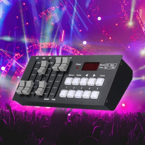 DC7-9V 0.2W Mini DMX512 Console Stage Light Built-in Controller