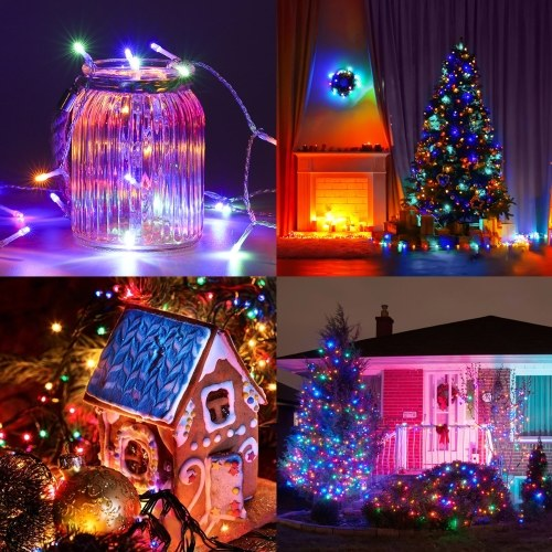 Tomshine 23m / 75.46ft 200 LEDs Fairy String Lights with Remote Control 8 Lighting Modes Plug-in RGB Color Changing Twinkle Light for Bedroom Patio Lawn Garden Party Wedding Christmas