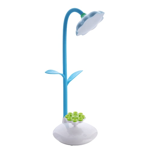 360 Degree Rotatable 3W Sun Flower Battery Charging Multifunction Table Lamp LED Light Mobile Phone Holder Suction Cup USB Power Bank Eye Protection Study Sucker Stand