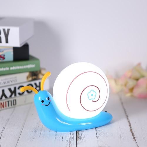 Snail Rechargeable Lovely lampe à LED à côté de la table de lit Bureau Night Light Décoration intérieure parfaite pour le couloir de chambre à coucher