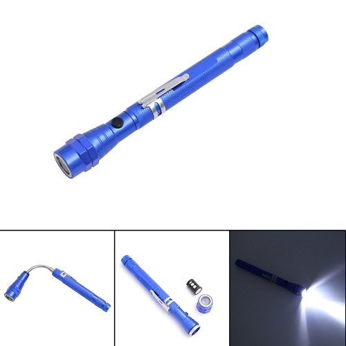 3LEDs 200LM LR44 Телескопическая 360 ° гибкая факельная лампа для шеи