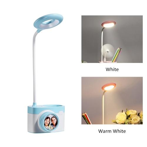 Multi-functional Desk Table Lamp Camera Shape Led Night Light Eye Protection Reading Light with Pen Holder