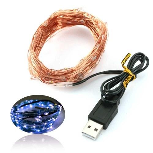 USB Cuivre Lampe Chaîne De Noël LED Lampe Décorative Cuivre Étoile Chaîne Lampe Lumière Chaîne 5 m 50 Lumières Quatre Couleurs En Option
