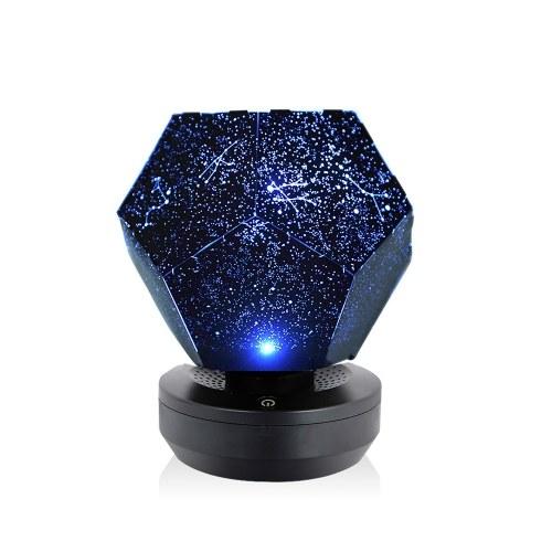 Lámpara de proyección romántica Starry Sky Proyector Led Night Light Rotativo Dreamlike Stars