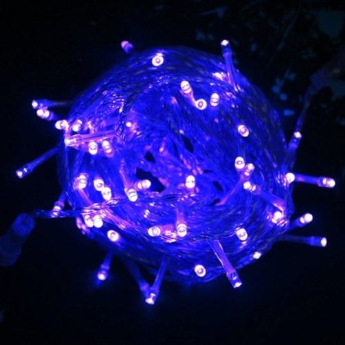 Cadena de luz 8 modos de luz de hadas impermeable para la decoración del dormitorio del banquete de boda de Navidad