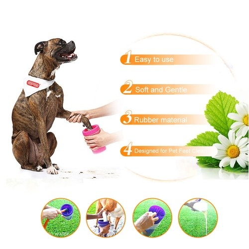 Silicone Pet Paw Washer Dog Cat Pets Paw Cleaning Cup Mud Cleaner for Small Large Pets Feet